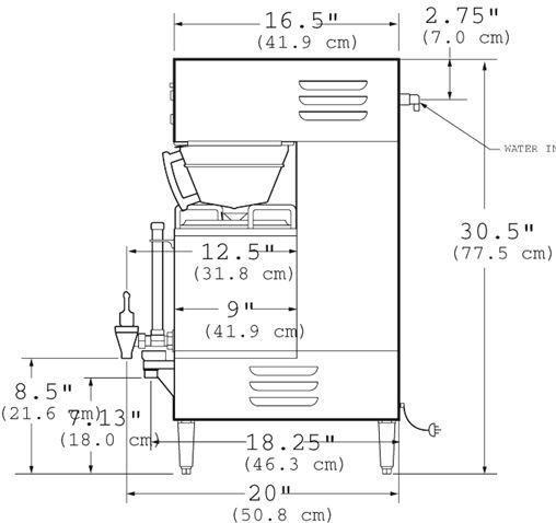 5加仑.全自动 滴漏式咖啡机gem-230a